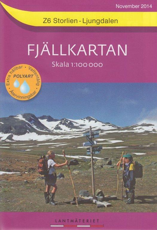 Fjällkartan 1:100.000 - Wanderkarten für das südliche schwedische Fjäll