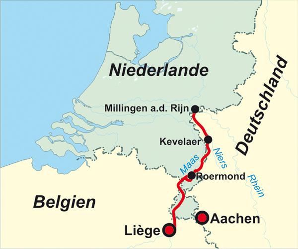 225 Niederlande Deutschland Belgien Jakobsweg Rhein Maas Weg