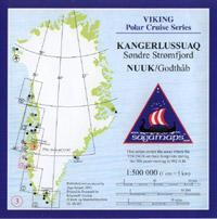 Topographische Übersichtskarten Grönland - Saga Maps Viking Polar Cruise Series 1:500.000