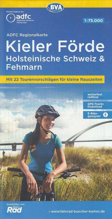 Holsteinische Schweiz Karte.Adfc Regionalkarte Kieler Forde Fehmarn Holsteinische Schweiz 1 75 000