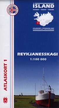 Atlaskort Island 1:100.000 - Topographisches Kartenwerk für Island