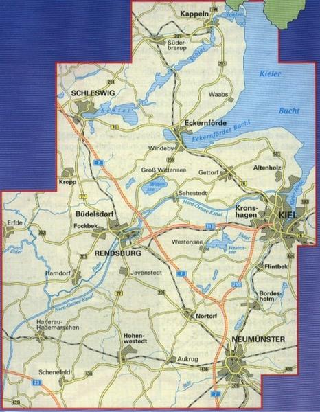 Radwanderkarte Rendsburg Eckernforde 1 60 000 Geobuchhandlung Kiel