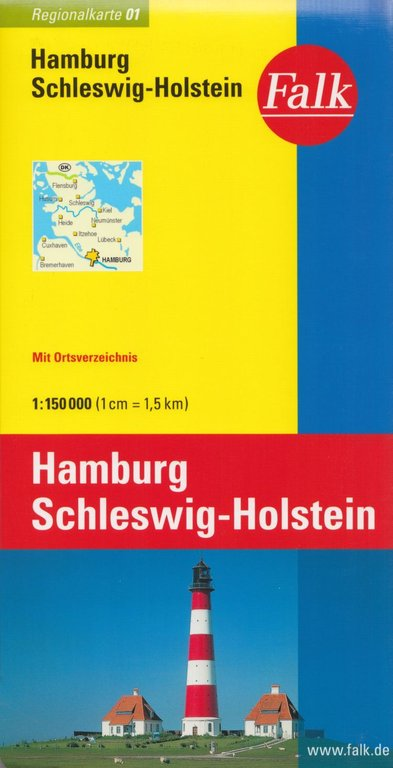 falk regionalkarte schleswig holstein hamburg 1. Black Bedroom Furniture Sets. Home Design Ideas
