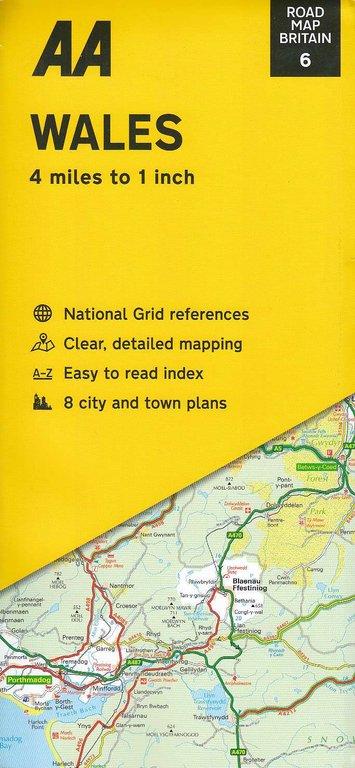 AA Road Map Britain 6: Wales 1:250.000 - Geobuchhandlung Kiel