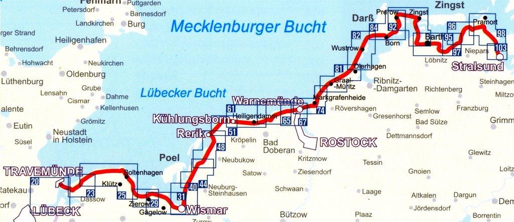 Ostseeradweg Lübeck Stralsund Karte.Kompass Fahrradführer Ostseeküstenradweg 2 Von Lübeck Nach Stralsund 1 50 000