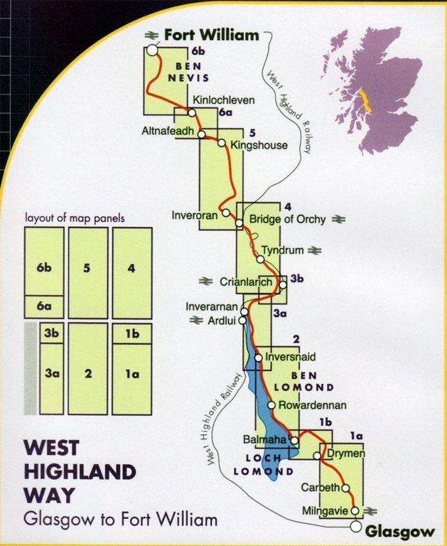 Wanderkarte West Highland Way 1 40 000 Geobuchhandlung Kiel