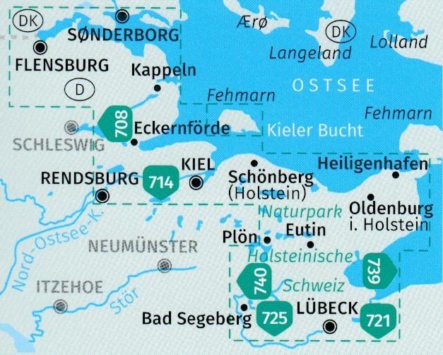Karte Norddeutschland Ostseekuste.724 Ostseekuste Von Lubeck Bis Danemark 1 50 000 Karten