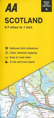 AA Road Map Britain 9: Scotland 1:300.000