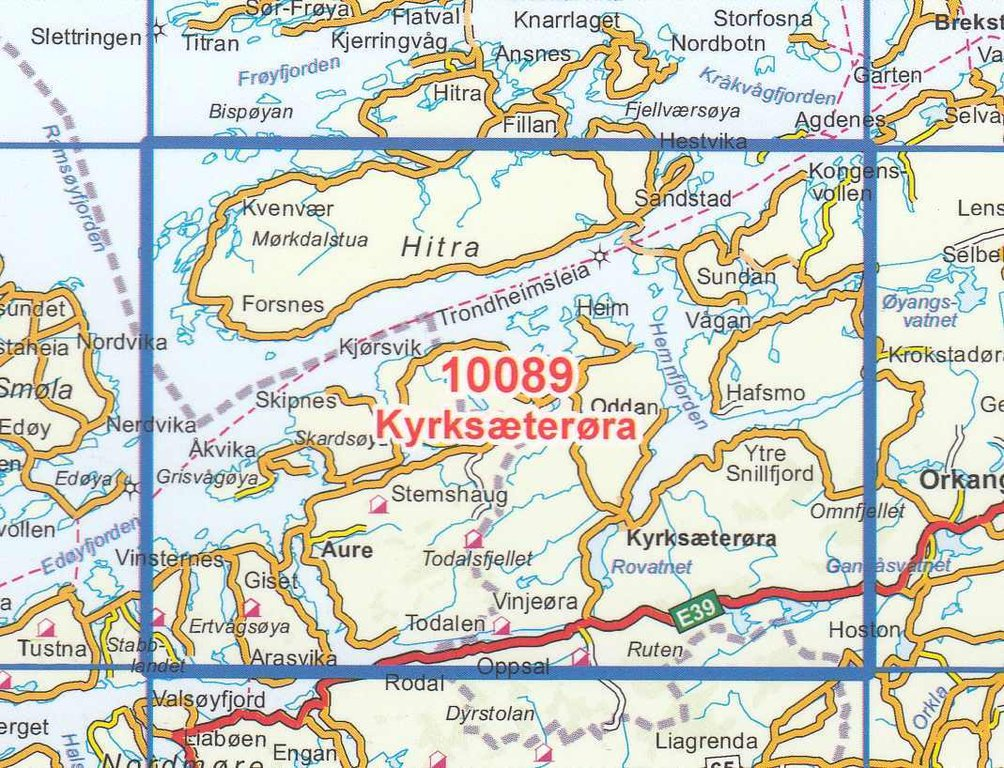 Serien Len norge serien 10089 kyrksæterøra 1 50 000 geobuchhandlung kiel