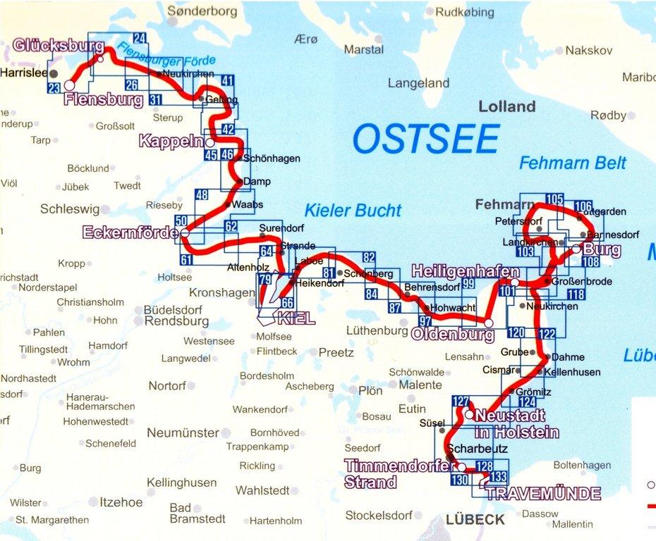 Kiel radweg nach von lübeck Radtour von