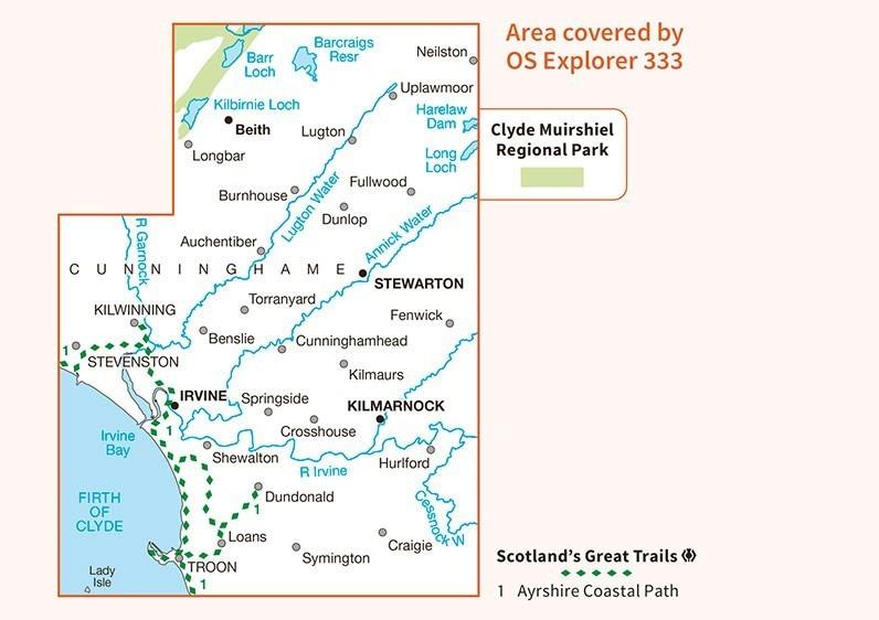 Explorer Map 333: Kilmarnock & Irvine 1:25.000 ...