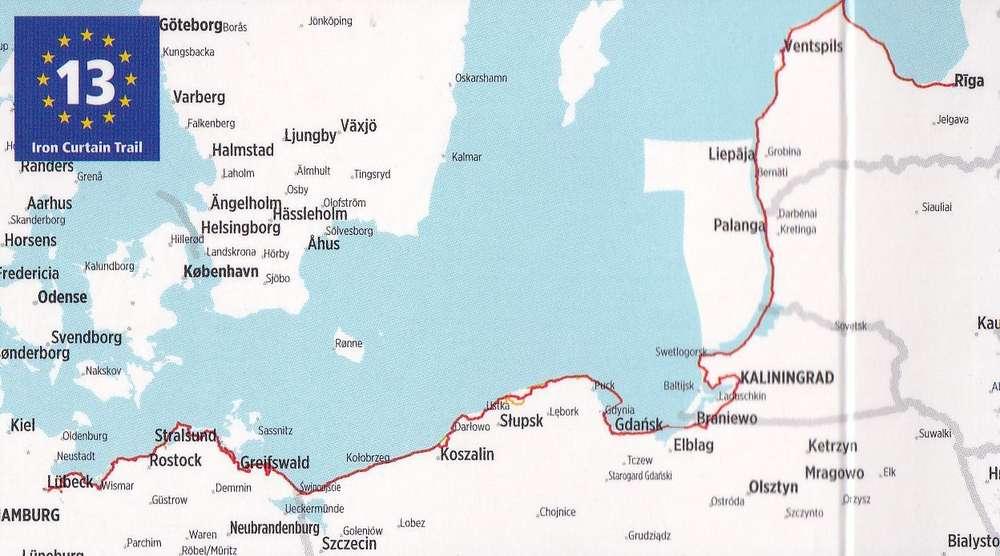 bikeline Ostseeküsten-Radweg von Riga nach Lübeck 1:85.000