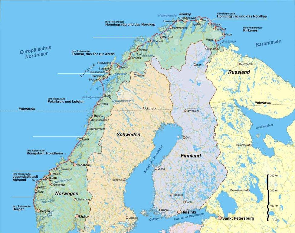 Karte Norwegen Hurtigruten.Hurtigruten Mit Dem Postschiff Von Bergen Nach Kirkenes