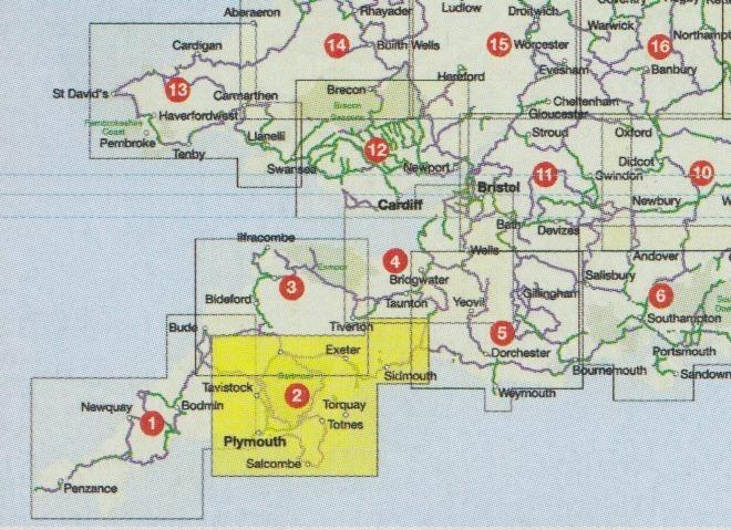 Cycle Map 02: South Devon 1:110.000 - Geobuchhandlung Kiel on