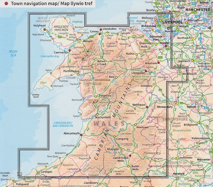 OS Tour Map 10: North & Mid Wales 1:175.000 - Geobuchhandlung Kiel