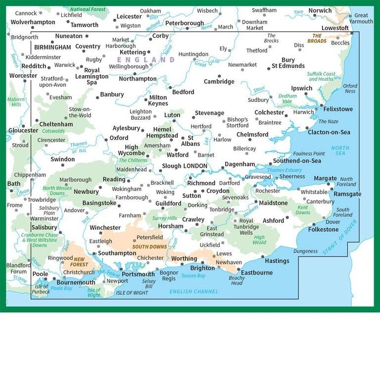 OS Road Map 8: South East England 1:250.000 - Geobuchhandlung Kiel