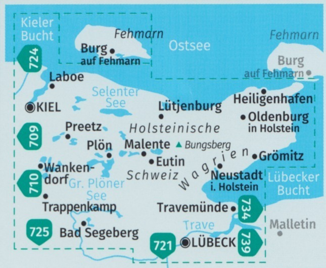 Holsteinische Schweiz Karte.740 Holsteinische Schweiz Fehmarn 1 40 000 Karten Set