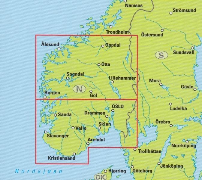 Karte Südnorwegen.Travel Map Südnorwegen 1 300 000 Geobuchhandlung Kiel