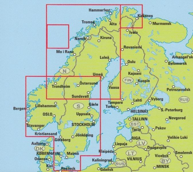 Karte Südnorwegen.Travel Map Norwegen 1 800 000 Geobuchhandlung Kiel