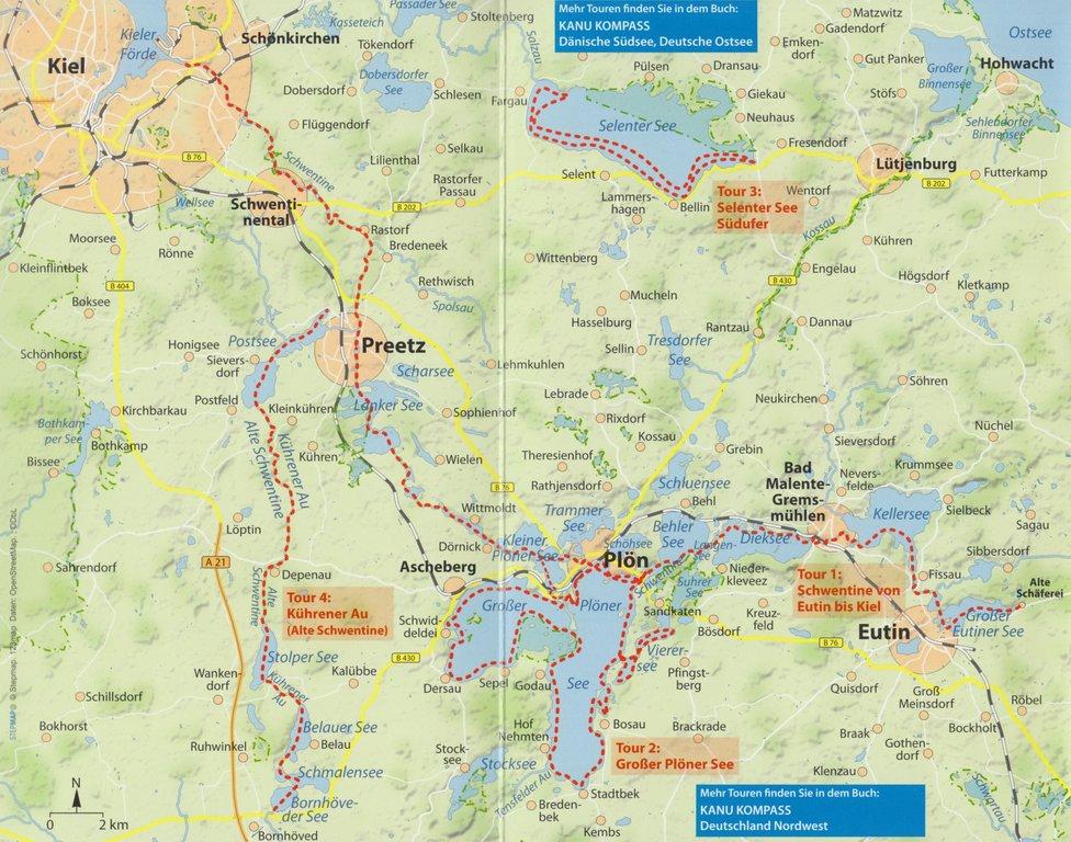 Holsteinische Schweiz Karte.Kanu Kompakt Holsteinische Schweiz