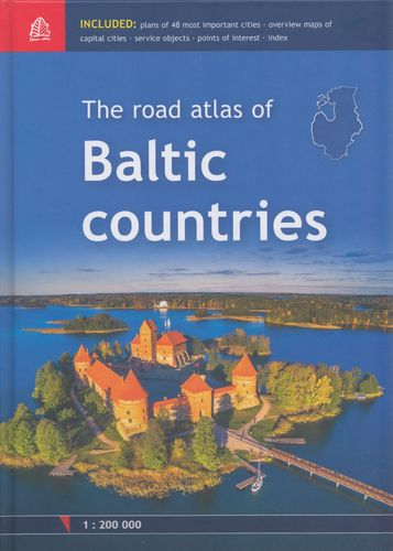 Baltic Countries, Road Atlas 1:200.000
