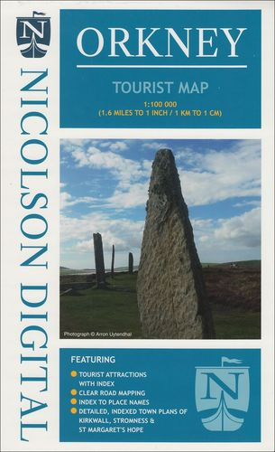 Nicolson Tourist Map: Orkney 1:100.000