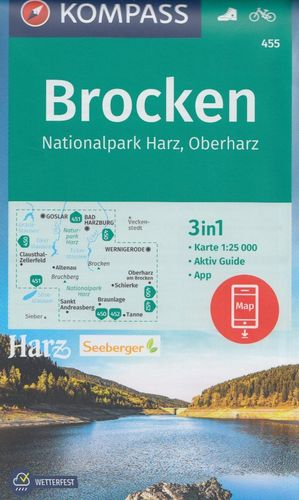 455: Brocken, Nationalpark Harz, Oberharz 1:25.000